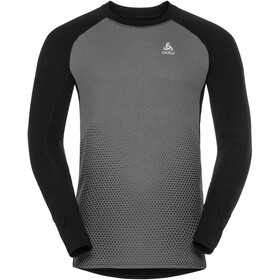 Odlo Suw Active Revelstoke LS Top Crew Men black-odlo steel grey